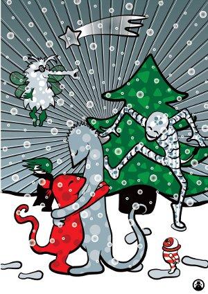 Weihnachtsmonster von Eva Rudofsky